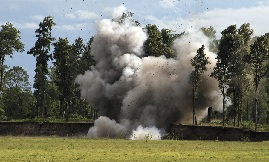 Landmine Explotion during UNMIN Training